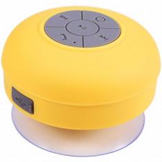 Boxa Portabila Bluetooth iUni DF16, Rezistenta la stropi de apa, Galben