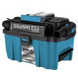 Aspirator atelier Dedra DED7174 Brushless, aspirare umeda uscata rezervor 10 l compatibil acumulator SAS ALL 18V (doar corpul)