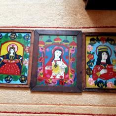 Tablou - icoanane pictura pe sticla - icoana veche, Abstract, Ulei, Realism