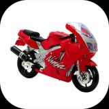 Motocicleta Kawasaki Ninja ZX-7R_Bburago_scara 1/18