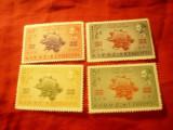 Serie Etiopia 1949 - 75 Ani UPU , 4 valori, Nestampilat