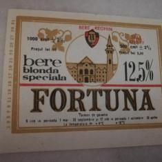 Eticheta bere Romania - FORTUNA  Reghin  !