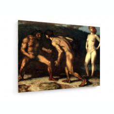 Tablou pe panza (canvas) - Franz Von Stuck - Fight Over Woman