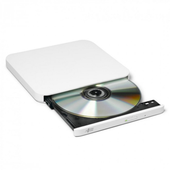 Ultra slim portable dvd-r silver hitachi-lg gp90nw70 gp90nw70 series dvd write /read speed: 8x cd
