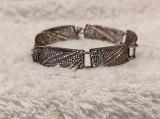 BRATARA argint VECHE in filigran SPLENDIDA manopera EXCEPTIONALA vintage RARA