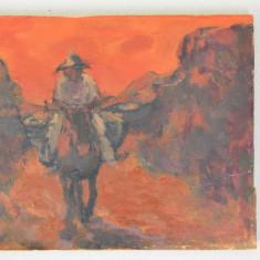 """L. T. Muszynski """"Mexican scene"""" veche pictura ulei"""