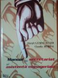 MANUAL DE SECRETARIAT SI ASISTENTA MANAGERIALA - MARGIT GATJENS-REUTER , CLAUDIA BEHRENS