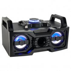 Boxa portabila 4 inch, iluminata, USB, Bluetooth, 2 x 25 W
