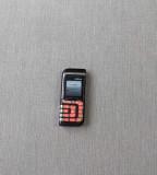 Nokia 7260 vintage de colectie - telefon simplu cu butoane Art Deco, Negru, Neblocat