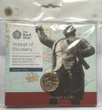 2 pounds 2020 Marea Britanie, Captain James Cook, Royal Mint sealed pack, unc, Europa