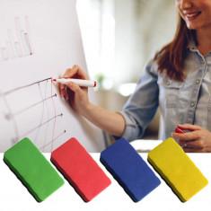 Burete magnetic pentru Whiteboard, stergere usoara, colorat, 10.5x6 cm