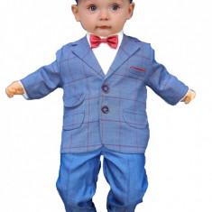 Costum de botez pentru baietei Prezenter-Baby Colibra 98338, Albastru
