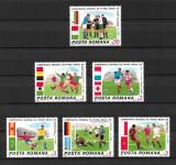 România - 1986 - LP 1157 - Campionatul de Fotbal din Mexic - serie completă MNH