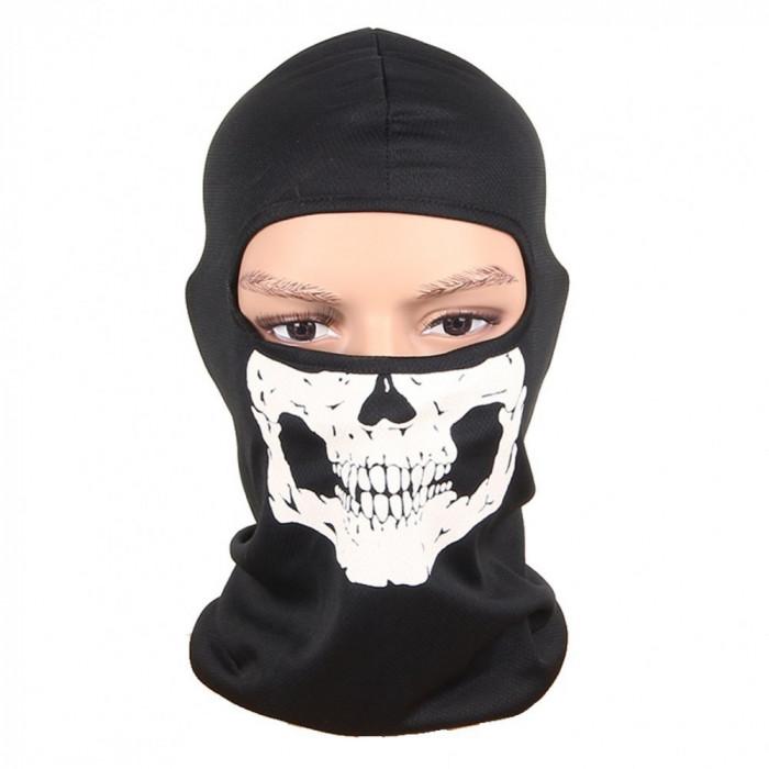 Cagula SKULL masca gat fata urechi protectie vant si frig pt ski bicicleta motor