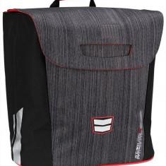 Simpla geanta bicicleta negru-rosu, Coburi si genti