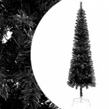 Brad de Crăciun artificial subțire, negru, 180 cm, vidaXL