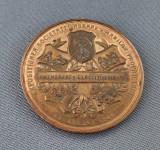 Medalie Carol I - 1904 - Agricultura - Bucuresti - Expozitiunea soc. agrare
