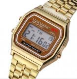 CEAS UNISEX Vintage Retro Gold-STIL ANII 80-NOU !!! sport -bratara reglabila !!, Inox
