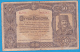 (12) BANCNOTA UNGARIA - 50 KORONA 1920 (1 IANUARIE1920) SERIA 5a010/061242
