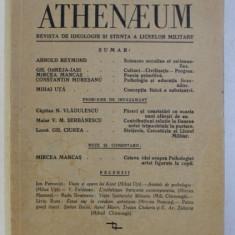 ATHENAEUM . REVISTA DE IDEOLOGIE SI STIINTA A LICEELOR MILITARE ANUL II NR. 3-4 , IULIE - DECEMBRIE 1936