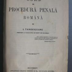 CURS DE PROCEDURA PENALA - I. TANOVICEANU - BUC. 1913*
