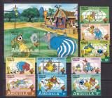 Anguilla  1982  Disney    sport fotbal  MI 501-509 + bl.45   MNH, Nestampilat