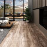 VidaXL Plăci de pardoseală, lemn decolorat, 5,26 m², PVC, 2 mm
