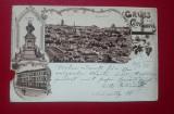 Salutari din Cernauti litho 1899 / cu defect, Circulata, Printata