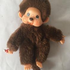 Monchhichi Sekiguchi, maimutica maimuta jucarie plus 18 cm, vintage, maro