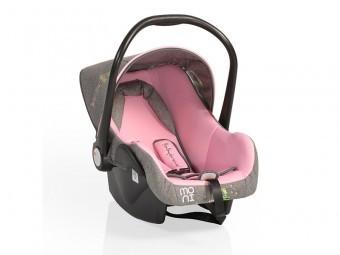 Cosulet Auto Bebelusi 0-13Kg MONI BabyTravel Pink foto