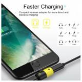 Mini adaptor 2in1 Apple iPhone splitter lightning casti si incarcare