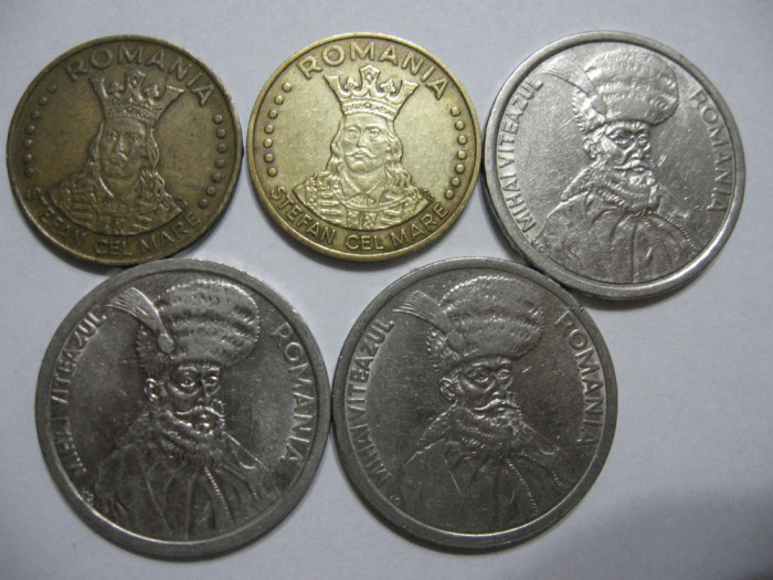Romania (71) - 20 Lei 1992, 1993, 100 Lei 1992, 1993, 1994