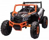 Cumpara ieftin Masinuta electrica UTV Premier Dune, 24V, roti cauciuc EVA, 2 locuri, scaun piele ecologica, portocaliu