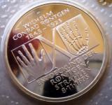 10.029 GERMANIA RFG WILHELM CONRAD RÖNTGEN 10 DEUTSCHE MARK 1995 D PROOF, Europa, Argint