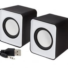 Set Boxe Stereo pentru PC sau Laptop, Conectare prin USB, Putere 2x3W