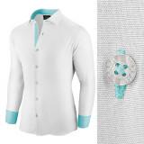 Camasa pentru barbati alb regular fit casual cu guler Business Class Ultra