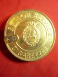 Capac metalic de la Cutie de Tigari interbelice Senior Service Cigarette