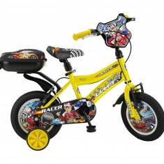"""Bicicleta Copii Umit Racer , Culoare Galben , Roata 12"""", Cadru OtelPB Cod:12480000001"""