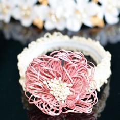 Bentita elastica cu dantela si floare, Universal