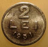 7.725 ROMANIA RPR 2 LEI 1951 EROARE