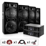 "Electronic-Star DJ PA Komplettset ""Phuket Pulsar Pro"" 2 x amplificator și 4 x boxe"