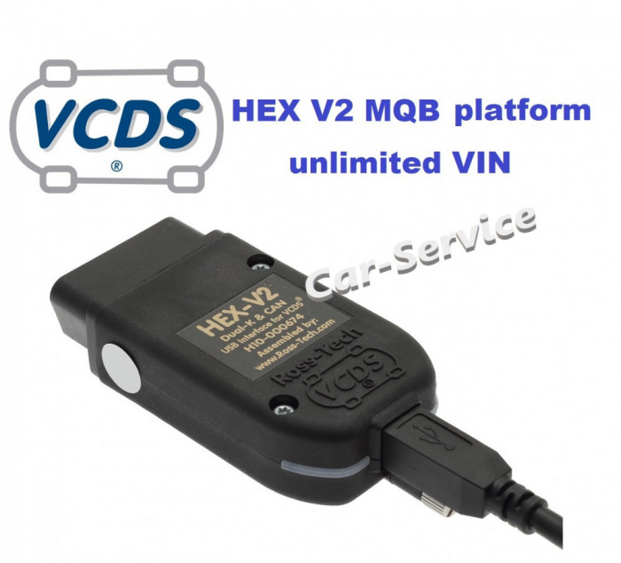 Vagcom Hex V2, VCDS 21.9, HW 1:1 dupa original ARM STM32F405, no VIN limit, MQB