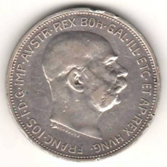 SV * Austria + Ungaria  LOT 2 X 2 KORONA / CORONE 1912  ARGINT .900  Franz Josef