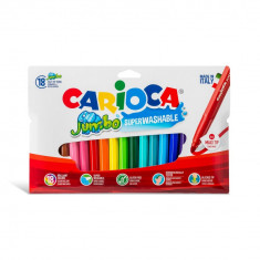 Carioca Jumbo super lavabila varf rotund Set 18 culori diferite.