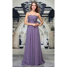 Rochie de seara, lunga, de culoare violet, 3XL, L, XS