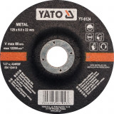 Disc cu degajare pentru slefuit metal 125x6x22 mm YATO