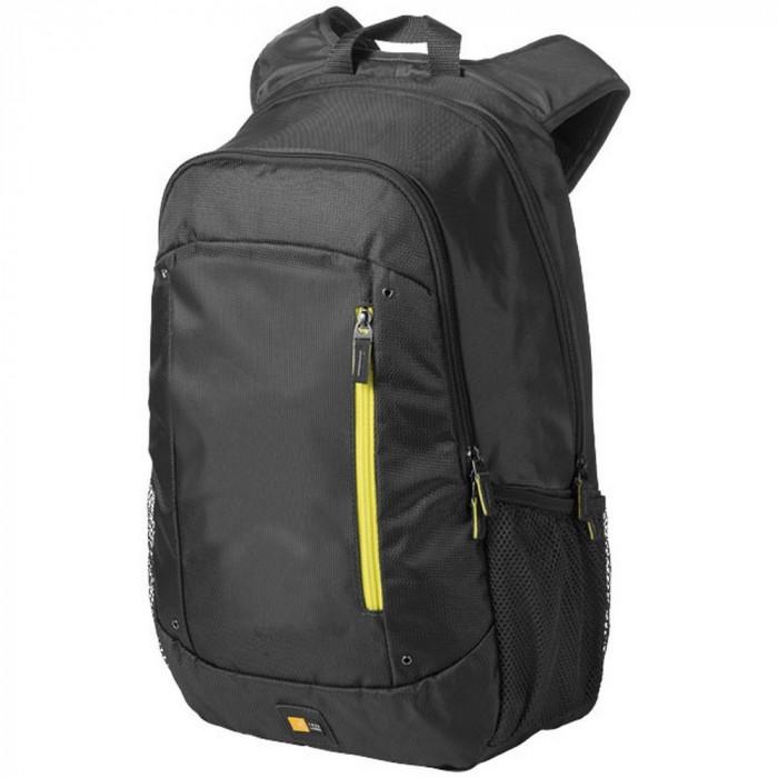 Rucsac Laptop, Case Logic by AleXer, JT, 15.6 inch, 400D nylon, antracit, breloc inclus din piele ecologica si metal