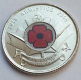 Monedă 25 cents 2008 Canada, Armistice Day, unc, color, km#775, America de Nord