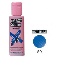 Vopsea par semi-permanenta Profesionala CRAZY COLORS 002249-1 Albastru Deschis