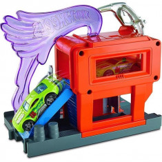 Set De Jucarii Hot Wheels City Downtown Speedy Fuel Stop Playset, Mattel